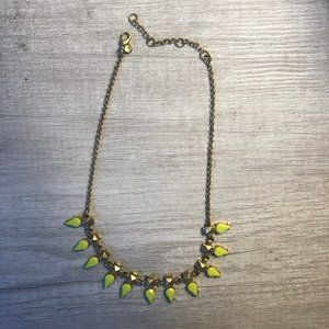 J. Crew Neon and Gold Statement Necklace